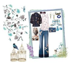 """""""Spring Birds"""" by stormysmom ❤ liked on Polyvore featuring York Wallcoverings, Mela Loves London, RED Valentino, Boohoo, Betsey Johnson, Laura Cole, Jimmy Choo, John Lewis, Marc Jacobs and Moschino"""