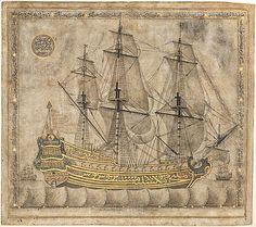 Calligraphic Galleon, Ottoman period, A.H. 1180 / 1766–67 A.D. Calligrapher: Abdul Qadir Hisari, Turkey