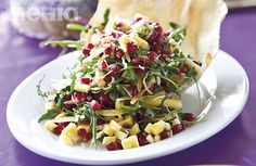 Salad with pomegranate and mango