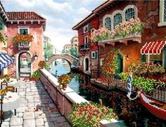 VENICE  DIY beadpoint kit, stitching beads n tapestry,needlepoint   NEW #beadembroideredpicture