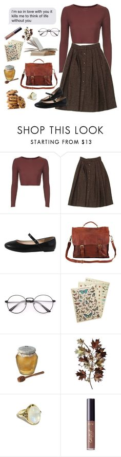 """""""I wont be a crybaby"""" by prttylilgirl ❤ liked on Polyvore featuring Topshop, Guy Laroche, Cavallini & Co., Chunk, C. Jeré, Pamela Love, tarte and TheNeighbourhood"""