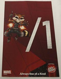 2014 Dr Pepper Soda Ad Page Rocket Raccoon | eBay