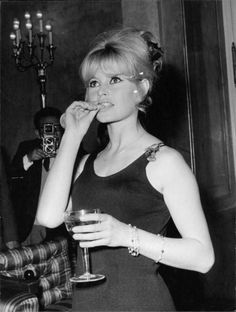 Brigitte in Rome at a press conference for Le Mepris, April 22, 1963.