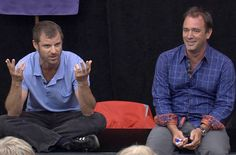 "The ""South Park"" co-creators Trey Parker and Matt Stone appear in a clip from the mtvU show ""Stand In."""
