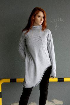 +S+Amish+Gray+Sweter+-+Asymetryczny+-+Navaho+w+Navaho+na+DaWanda.com