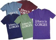 Ithaca is Gorges Tri-blend Deep V T-Shirt: