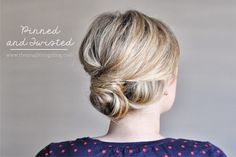 The Small Things Blog: Pinned and Twisted Hair Tutorial, hair tutorial, hair style, tutorial, updo