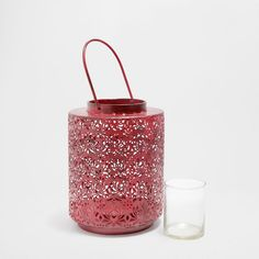 RODE METALLIC LANTAARN - Lantaarns - Decoratie | Zara Home Holland