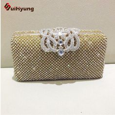 Noble Crown Diamond Evening Bags Women's Full Sided Crystal Clutch Handbag Quality Assurance New Bling Party Purse Shoulder Bag