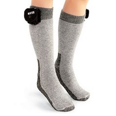 The 12 Hour Heated Socks. In the bitter cold, these heated wool and Thermostat socks provide soothing warmth. Thermostat is made from hollow-core fibers that trap air while moving moisture away from skin. Winter just became bearable again!