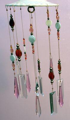 Crystal Windchimes (Softly Spoken), Indoor / Outdoor - Handmade