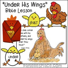 """""""Under His Wings"""" Bible Lesson from www.daniellesplace.com"""
