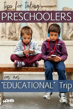 Ever wanted to take your preschoolers on an educational trip? Here are some tips to help it go smoothly Kids Travel Activities, Reading Activities, Good Parenting, Parenting Hacks, Thoughts On Mother, Student Travel, Lessons For Kids, Educational Technology, Travel With Kids