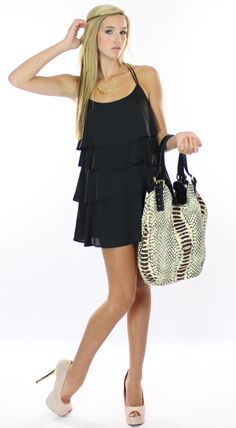 Little Black Dress - cute but I would like it better with lower shoes.