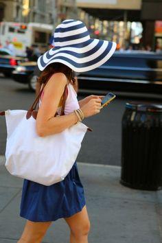 summer shades against the sun - a big floppy hat #fashion #style