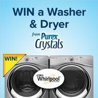 Who wants to win a NEW #Whirlpool washer & dryer from Purex Crystals? Repin and enter at www.facebook.com/...