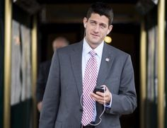 Rep. Paul Ryan, R-Wisc., leaves the House Republican Conference meeting, beginning at the Capitol Hill Club on Wednesday, August 1, 2012. (Bill Clark/CQ Roll Call)