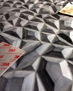 Painel 3D em processo de pintura by @elitecortes #elite #cortes #design
