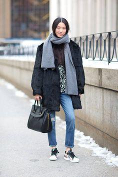 model style Street Style - Street Style Photos New York Fashion Week Fall 2014 - Harper's BAZAAR