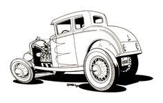 Gasser Cartoons   CARtoons and Hot Rods