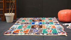 Authentic Vintage BOUCHEROUITE 4x7 Azilal moroccan rug Gorgeous Beni Ourain Luxurious Rug Teppich BOUCHEROUITE Carpet
