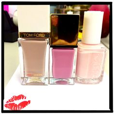 View From the Beauty Closet: Spring Polish Picks: Daily Beauty Reporter :  These three polishes are each lovely on their own, but grouped together, they form the perfect color palette for spring. Tom Ford Sugar Dune, YSL Rose Scabiosa,  Essie Romper Room