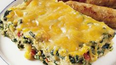 From Betty's Soul Food Collection...  Popeye had it right—there's nothing better than spinach! Bake it with corn grits, taco seasoning and lots of shredded Cheddar cheese, and it's a brunch with a punch.