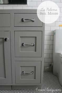BM La Paloma gray on cabinet -#paintcolor