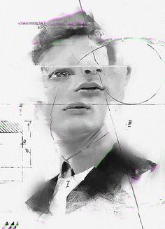 evgeny add juxtaposes life with glitches, graphs + geometrics