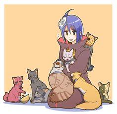 Neko Akatsuki, except for Konan :) Boruto, Sasori And Deidara, Konan, Itachi Uchiha, Akatsuki, Manga, Naruto Anime, Naruto Images, Cartoon Games