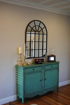 Turquoise Console Table.