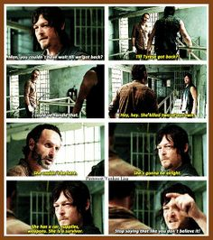 The Walking Dead - Daryl Dixon - Norman Reedus and Rick Grimes - Andrew Lincoln