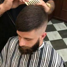 Hair Cutting Videos, Hair Cutting Techniques, Very Short Hair Men, Short Hair Styles, Stylish Haircuts, Haircuts For Men, Popular Haircuts, Man Bun Hairstyles, Men's Hairstyle