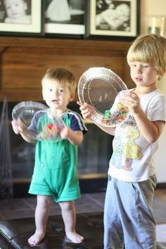 Both of the boys have had so much fun playing with their musical instruments. This is really multiple instruments in one...it acts as a maraca, a tambouri