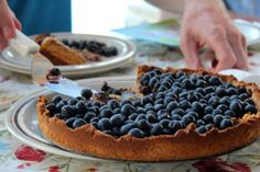 Blueberry Tart: Gluten Free and Cane Sugar Free