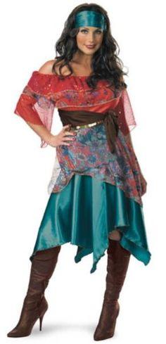 sexy diy gypsy costumes | Gypsy Halloween Costume (Sz: 6-10) All New Bohemian Babe Gypsy Costume ...