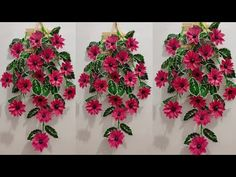 DIY Bunga Gantung Hiasan Dinding dari Plastik Kresek | Flower Wall Hanging from Plastic Bag - YouTube Recycled Plastic Bags, Hanging Flower Wall, Ikebana, Crochet Designs, Flower Crafts, Flower Making, Handicraft, Diy And Crafts, Floral Wreath