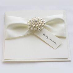 Pearl Brooch Wedding Invitation - A Pearl Inspired Wedding