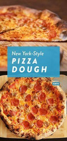 New York Style Pizza Dough Recipe, Best Pizza Dough Recipe, Easy Pizza Dough, Pizza Dough Thin Crust, Cracker Crust Pizza Dough Recipe, Sauce Pizza, Pizza Pizza, Quick Pizza, Food Processor Recipes