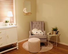 Blush, Grey and Neutral/Gold Nursery