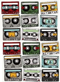 Free Printable. Make your mix tape gift into a real gift. Perfect for making mix tape tags.