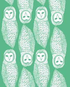Owls. #illustration #pattern #owl