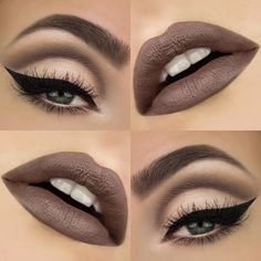 I only used cool tones in today's look with a cut crease and a bold liner…