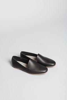 Acne Studios Kyra Leather Slipper (Black)