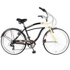 Touring 726M Cruiser Bicycle, 26 in. Wheels, 19 in. Frame, Men's Bike in Black, Blacks
