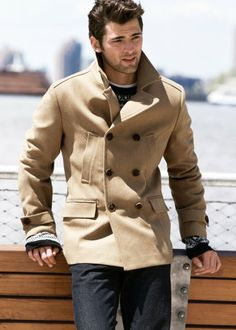 Sean O'Pry is wearing a nice jacket.