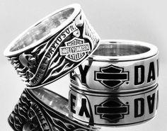 Harley-Davidson classy rings. | Raddest Men's Fashion Looks On The Internet…