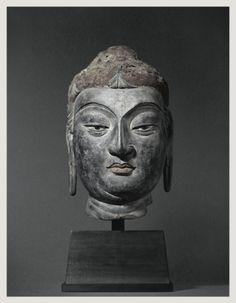 唐夾紵乾漆佛頭像 唐高宗永徽元年(650)前後