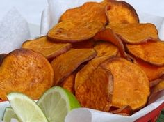 Sweet Potato Chips With a Hint Of Lime Recipe | Just A Pinch Recipes