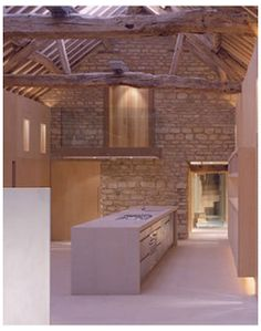 ENGLAND: The residential conversion of two barns in rural Buckinghamshire by Simon Conder Associates. Architecture Renovation, Barn Renovation, Contemporary Barn, Modern Barn, Modern Rustic, Modern Farmhouse, Barn Conversion Interiors, Barn Conversion Bedroom, Barn Conversion Kitchen